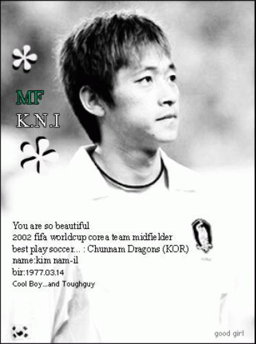 한국 국가대표팀  김남일 선수와 이천수 선수입니다  백넘버 5번과 14번입니다  코리아 팀 화이팅!!! 예~~!!