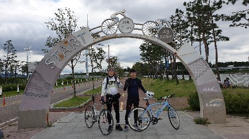 아들과 함께한 자전거 국토 종주 여행 사진